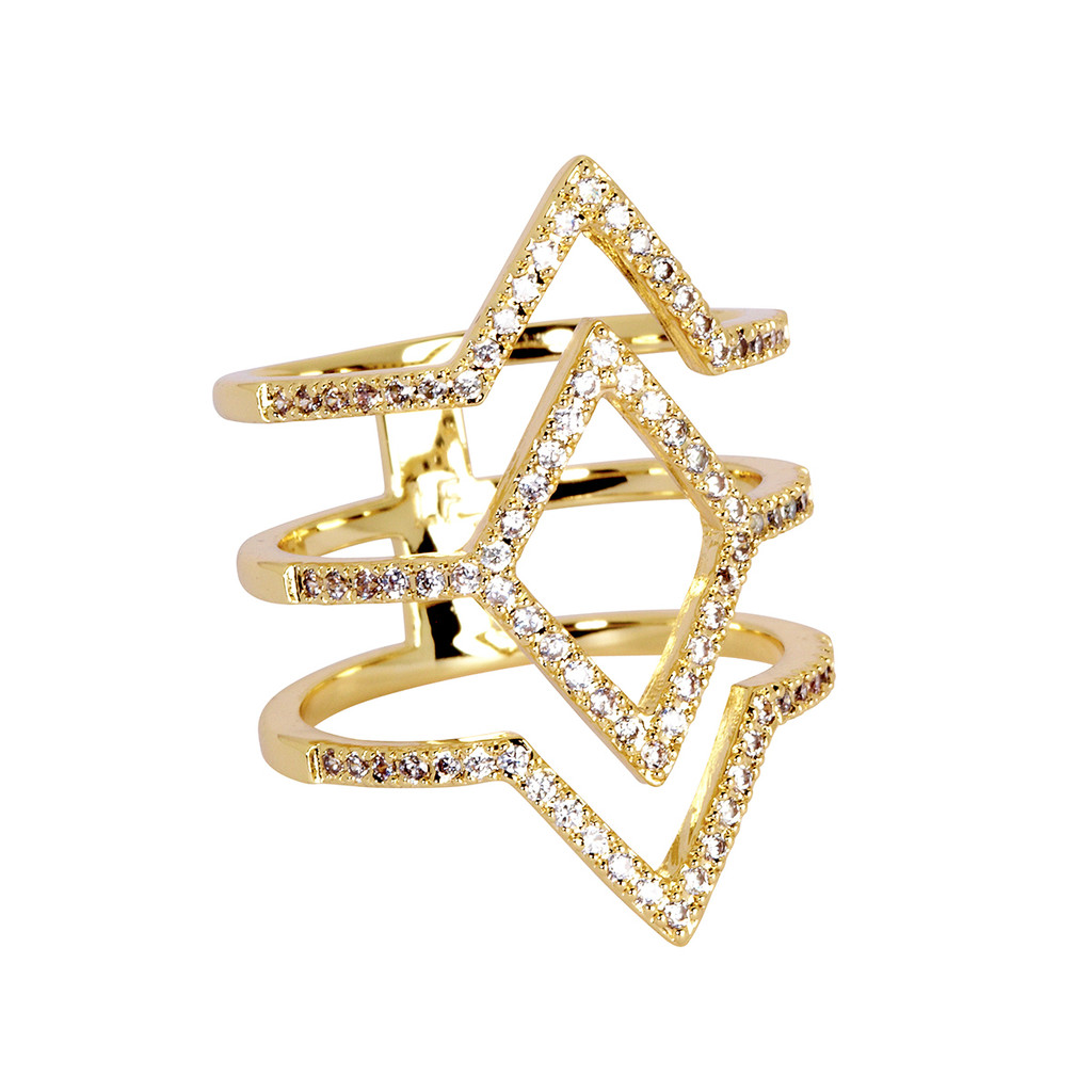 Yellow Gold Plated Aliza Ring