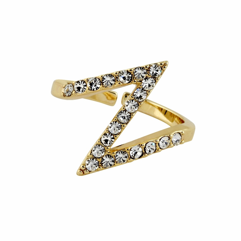 Yellow Gold Plated Bowie Ring