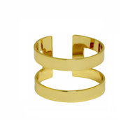 Yellow Gold Plated Athens Ring