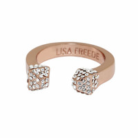 Rose Gold Plated Crystal Stud Ring