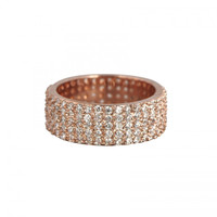 Rose Gold Plated Wide Eternity Band