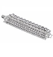 Rhodium Plated Brigette Bracelet