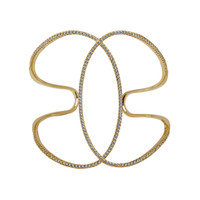 Yellow Gold Plated Infinity Cuff