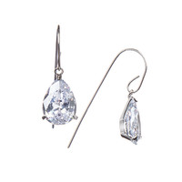 Rhodium Plated Raine Earrings
