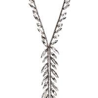 Antique Rhodium Plated Kali Necklace Close Up Detail