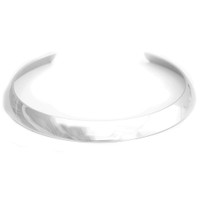 Rhodium Plated Cigar Band Choker