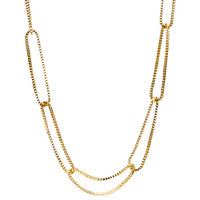 Yellow Gold Plated Jess Necklace Close Up Detail