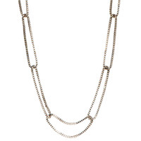 Rhodium Plated Jess Necklace Close Up Detail