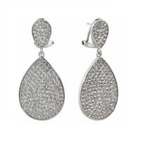 Rhodium Plated Ashlee Earrings