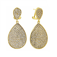 Yellow Gold Plated Ashlee Earrings