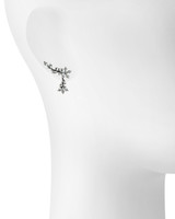 Gunmetal Plated Leah Earring Cuff Shown on Ear