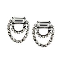 Antique Rhodium Plated Double Scarlett Earrings