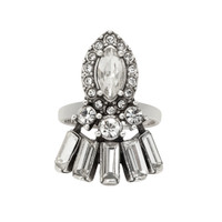 Antique Rhodium Plated Charlotte Ring