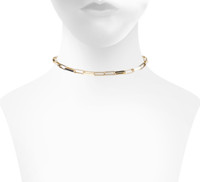 Yellow Gold Plated Savannah Choker Shown on Neck