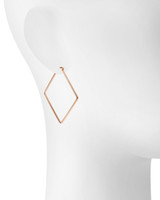 Rose Gold Plated Shown on Ear