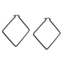 Gunmetal Plated Kim Hoop Earrings