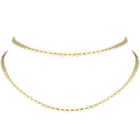 Yellow Gold Plated Double Mini Palette Choker