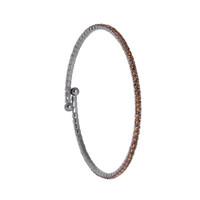 Gunmetal/Champagne 1 Line Crystal Wrap Bracelet