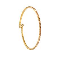 Yellow Gold/Topaz 1 Line Crystal Wrap Bracelet