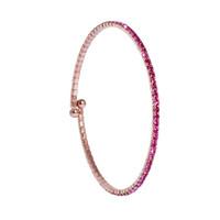 Rose Gold/Rose 1 Line Crystal Wrap Bracelet
