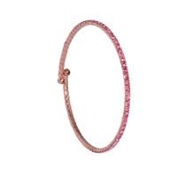 Rose Gold/Light Rose 1 Line Crystal Wrap Bracelet