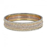 7 Laser Cut Bangles Shown Stacked Together
