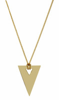Yellow Gold Plated Luna Necklace