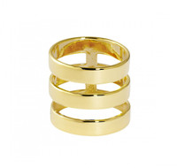 Yellow Gold Plated Solid Brooklyn Ring