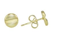 Yellow Gold Plated Flat Head Screw Stud Earrings