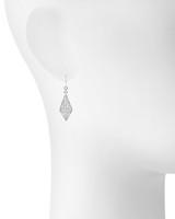 Rhodium Plated Gwen Earrings Shown on Ear
