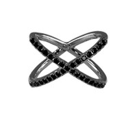 Gunmetal Plated/Black X Ring