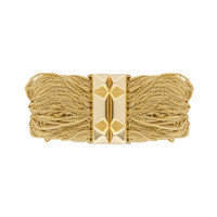 Yellow Gold Plated Rachel Bracelet Shown Closed