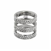 Rhodium Plated Crystal Brooklyn Ring