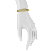 Yellow Gold Plated Alex Bracelet Shown on Arm
