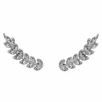 Rhodium Plated Vine Earrings