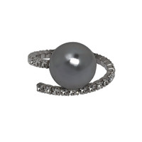 Gunmetal Plated Large Kris Ring