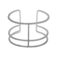 Rhodium Plated Roman Cuff