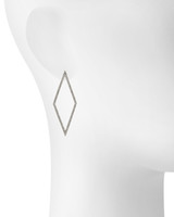 Rhodium Plated Cara Earrings Shown on Ear
