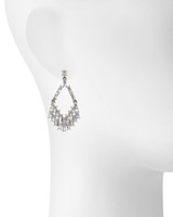 Antique Rhodium Plated Shown on Ear