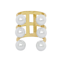 Yellow Gold Plated Meredith Ring