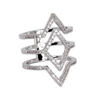 Rhodium Plated Aliza Ring