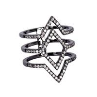 Gunmetal Plated Aliza Ring