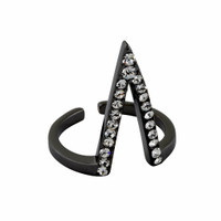 Gunmetal Plated Mayra Ring
