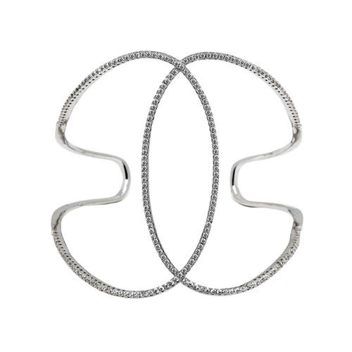 Rhodium Plated Infinity Cuff