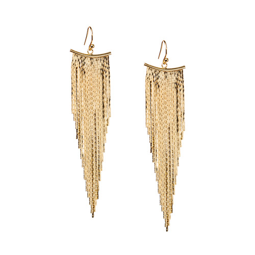 Yellow Gold Plated Liquid Earrings