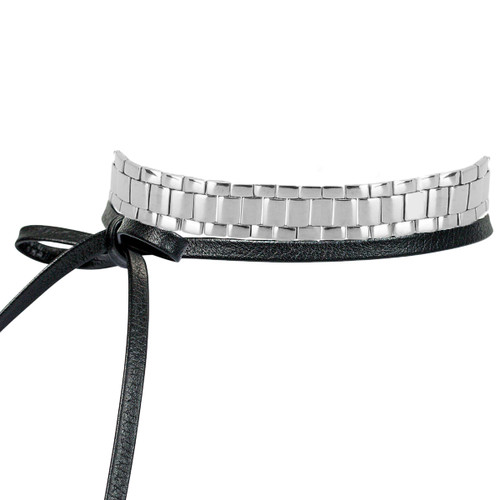 Watch Band Leather Multi-Way Wrap Tied in Front