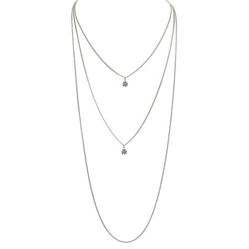 Rhodium Plated Trinity Necklace