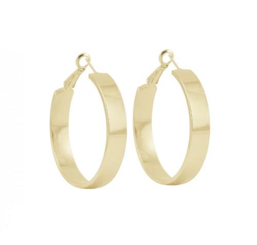 Yellow Gold Plated Medium Jennifer Hoop Earrings