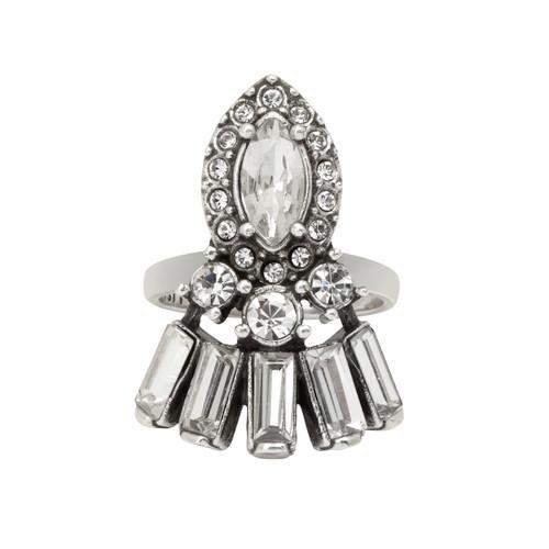 Antique Rhodium Plated Charlotte Ring