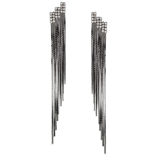 Gunmetal Plated Ace Earrings